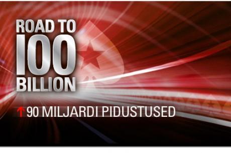 PokerStars teel 100 miljardi poole: 90. verstapost