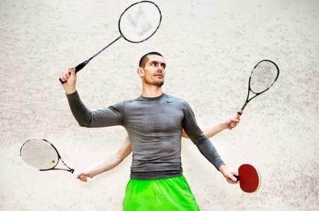 Gus Hansen deslumbra al mundo con la raqueta