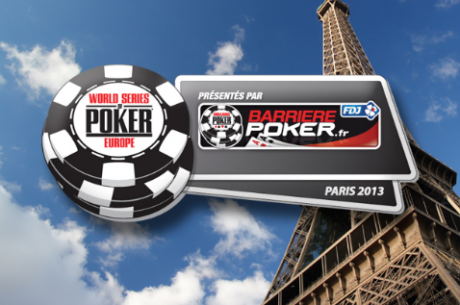 World Series of Poker Europe flytter til Paris i 2013