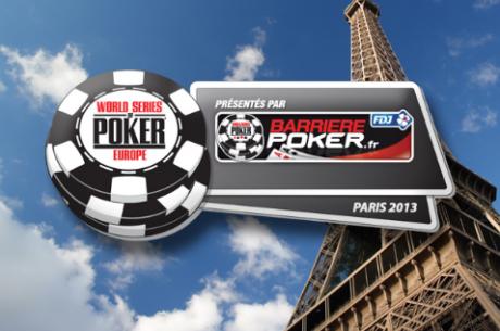 世界扑克锦标赛欧洲站迁至巴黎