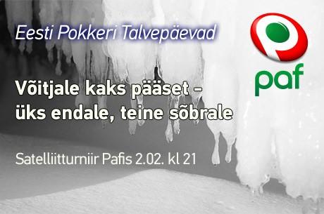 Eesti Pokkeri Talvepäevad toimuvad 23. ja 24. veebruaril Kopra Talus