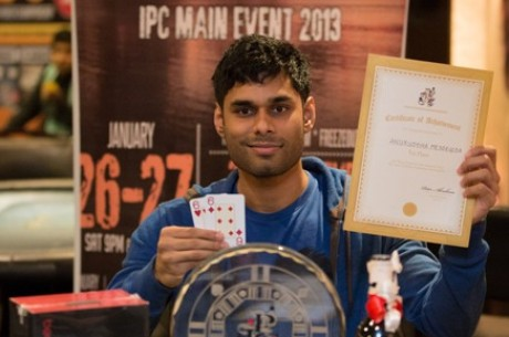 Anuruddha Meddegoda is the India Poker Champion 2013