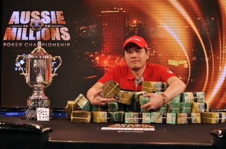 Mervin Chan vant Aussie Millions 2013. Antonius på tredje