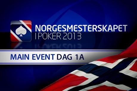 Norgesmesterskapet i Poker 2013 - Main Event dag 1a