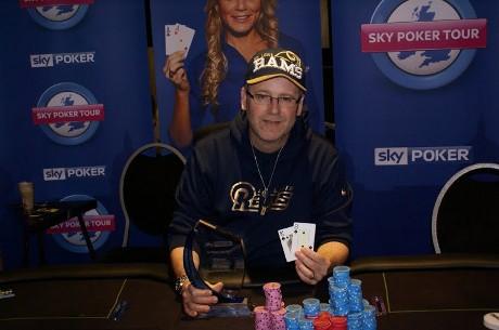 Aaron Famand wins the Sky Poker Tour London Main Event