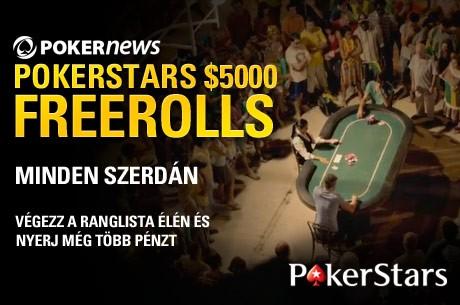 Ma este verseny, és már zajlik a kvalifikáció az utolsó $5,000-es PokerStars Freerollra