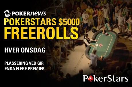 Kun to freerolls igjen ved vår 67 500 PokerNews Freeroll Serie hos PokerStars!