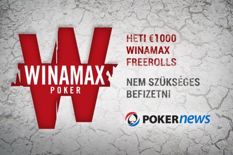 Május 9-én jön a következő €1.000-os Winamax Freeroll, amin befizetés nélkül is...