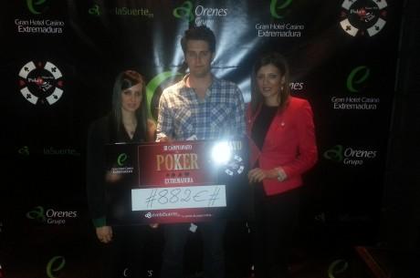 III Campeonato de Póker de Extremadura, Manuel Coronado ganador