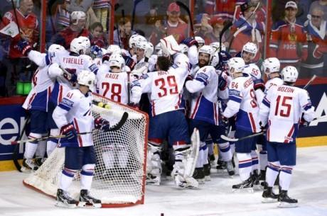 Hockey-VM - Frankrike chockar, slår världsmästarna Ryssland