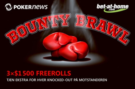 Slå ut spillere og vinn penger ved PokerNews bet at home Bounty Brawl