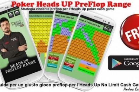 Arriva Poker HU PreFlop Range, la App per studiare i testa a testa