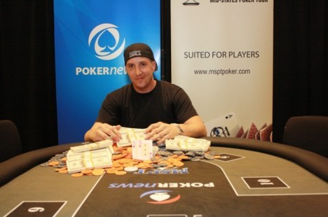 "Джон ""JohnnyGstaks"" Хайс победил в PokerNews Mid-States Poker Tour Northern..."