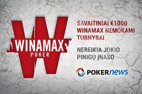 Artėja dar vienas 1000 eurų Winamax nemokamas turnyras