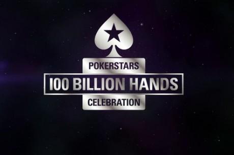 100 miljardi käe pidustused PokerStarsis