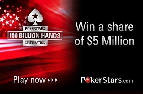 5 millió dollár vár gazdára a PokerStars 1 milliárdodik leosztásának jubileumán