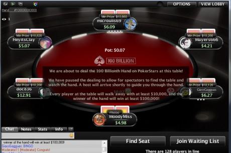 Vakar buvo padalinta 100-milijardinė ranka PokerStars kambaryje. Jos laimėtojui atiteko...