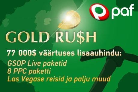 Täna toimub Paf Gold Rush juuli esimene turniir