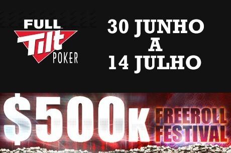 Freeroll Festival na Full Tilt Poker $500,000 em Jogo