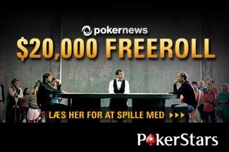 Spil med om $20.000 i vores freeroll hos PokerStars