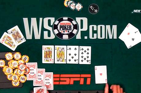 VIDEO: WSOP Main Event az ESPN-en, véget ér a negyedik nap, még 239-en versenyben
