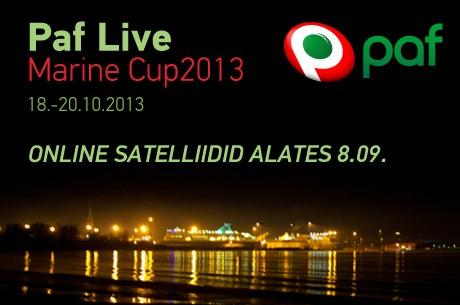 Oktoobris toimub Paf Live Marine Cup 2013