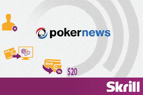 Ново 20: безплатни двайсет кинта в нова Skrill сметка