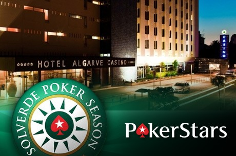 Hoje às 21:00 Último Satélite Solverde Season#10 (Praia da Rocha) na PokerStars
