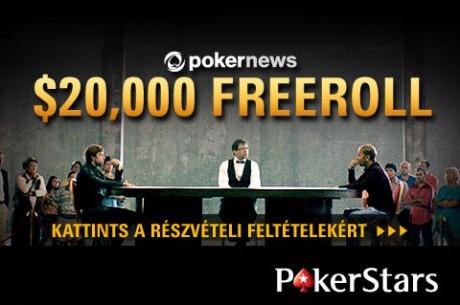 Decemberig minden hónapban $20.000-os exkluzív PokerNews Freeroll a PokerStarson