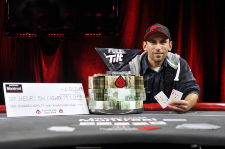 Henri Balcazar Wins the Full Tilt Poker Montreal Main Event