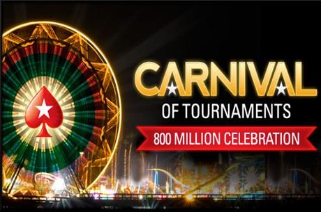 PokerStars Celebra 800 Milhões de Torneios - Carnaval de Torneios