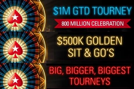 PokerStarsis 800 miljoni turniiri pidustused
