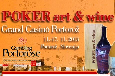 Poker Art & Wine Festival u Portorožu, Slovenija od 11.-17. Nov.