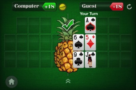 Spice Up Your Open-Face Chinese Poker Game by Adding a Pineapple Twist