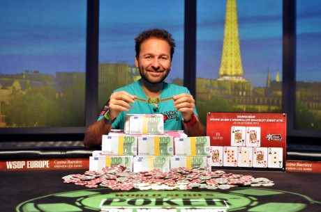 Daniel Negreanu Wins WSOP Europe High Roller, Sixth Bracelet, and Player of the Year