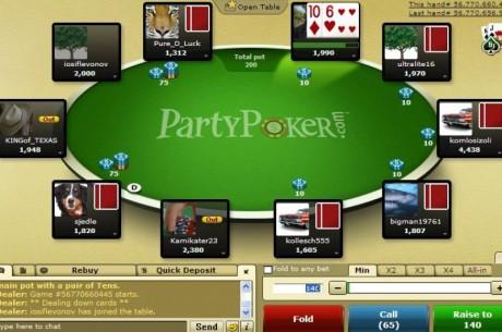 Игроки используют сегрегацию поля на PartyPoker в своих...