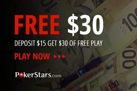 Receive $30 free at PokerStars through PokerNews Canada