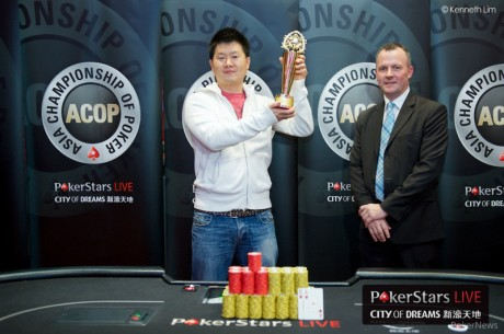 Sunny Jung Wins the 2013 PokerStars.net APPT Macau ACOP Main Event for HK$4,752,000