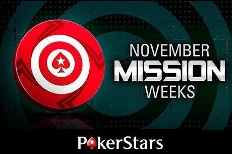 Novembris PokerStarsis - missioonide nädalad
