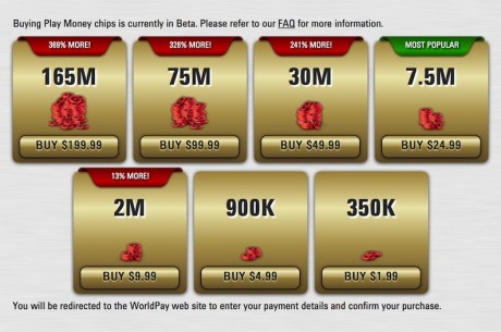 PokerStars Offering Real Money Purchase of Play Money Chips