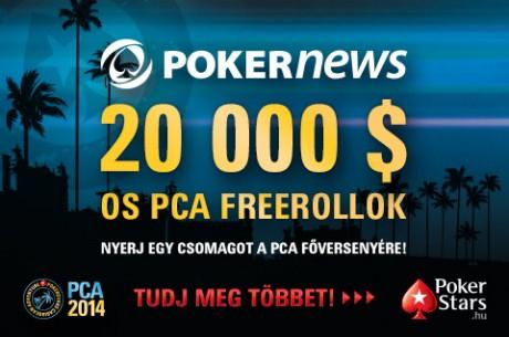 $20.000-os exkuzív PokerNews Freeroll, amin PCA Main Event beülőt is nyerhetsz!