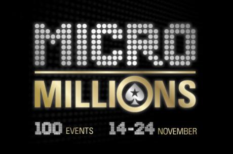 Madalate panustega turniiriseeria MicroMillions VI toimub 14.-24. novembrini