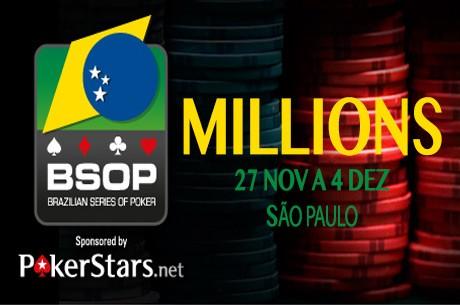 BSOP Millions: Edson Abdala é o Chip Leader do Dia 1A