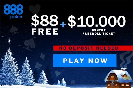 Participa a diario en freerolls de $10,000 durante Diciembre en el Gr888 Winter Giveaway
