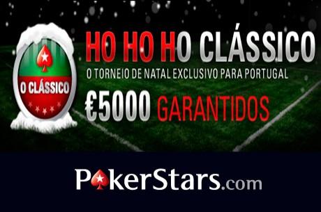 Este Domingo HO HO HO CLÁSSICO com Oferta de Ticket de €5,5 na PokerStars
