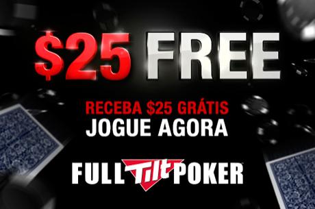 Aproveita Até 15 de Janeiro: $25 Grátis na Full Tilt Poker!