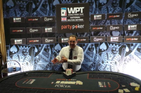 John Gudger Wins the partypoker WPT National Milton Keynes Main Event