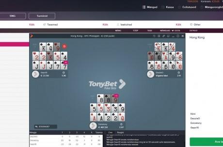 Tonybeti pokkerituba käivitas eestikeelse tarkvara
