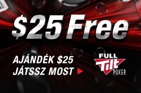 Január 31-ig még kihasználhatod a Full Tilt Poker ajándék $25-os ajánlatát