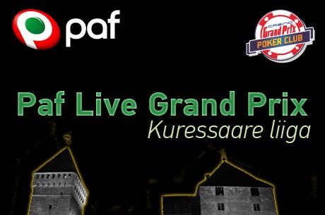 Laupäeval alustab Paf Live Kuressaare pokkeriliiga